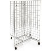 Grid pinwheel unit with 2'w x 4'h grid panels - chrome