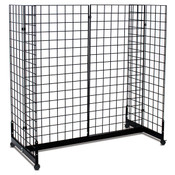 "Grid gondola unit 48""l x 24""w x 48""h - black"