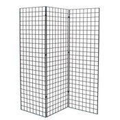 Grid Z unit with three 2'x6' panels - black
