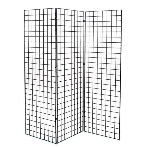Grid Z unit with three 2'x6' panels - black