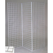 Grid Z unit with three 2'x6' panels - chrome