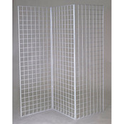 Grid Z unit with three 2'x6' panels - white