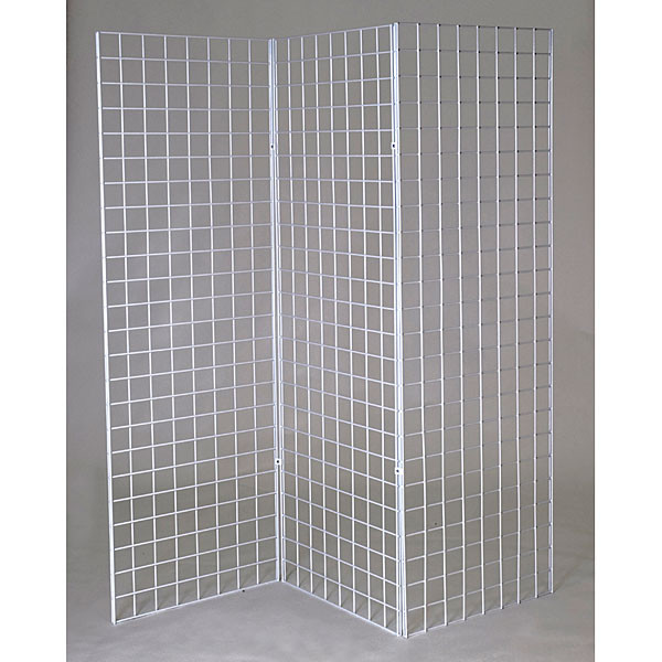 Grid Z unit with three 2'x6' panels - white