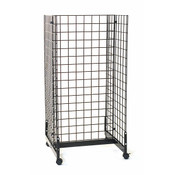 "Grid gondola unit 24""l x 24""w x 48""h - black"