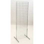 Grid unit 2'x6' with legs - chrome