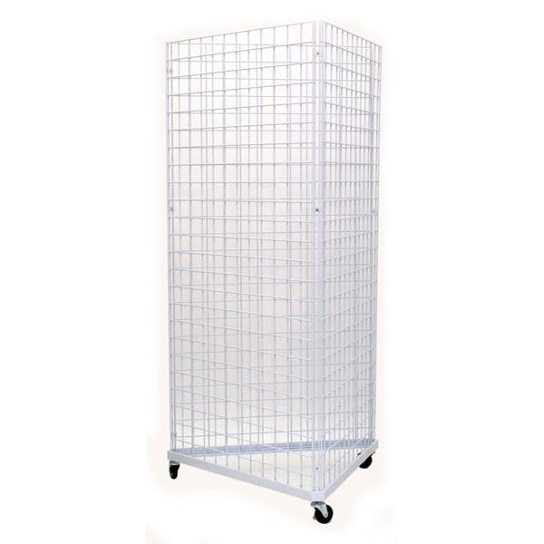 Grid triangle unit 3' sides - white