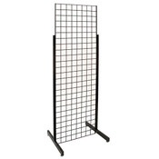 Single Grid Merchandiser with Heavy Duty Legs - Black