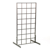 Countertop grid unit 1'wx2'h with legs - black