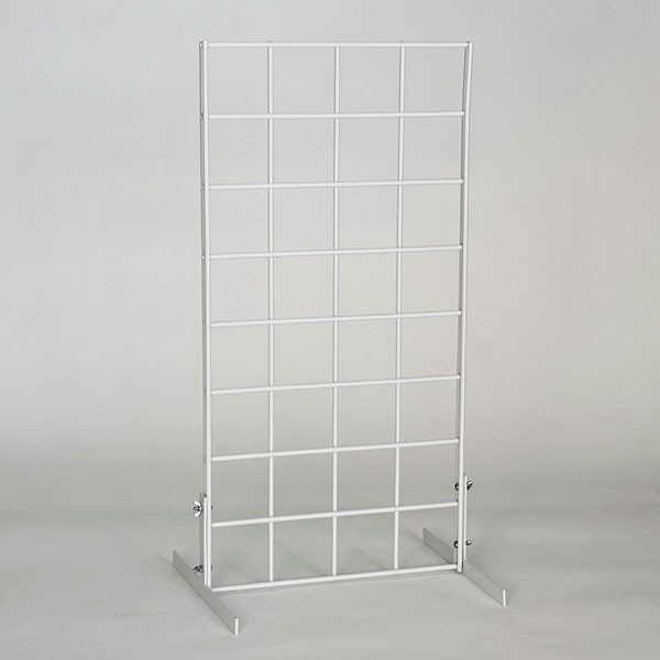 Countertop grid unit 1'wx2'h with legs - white