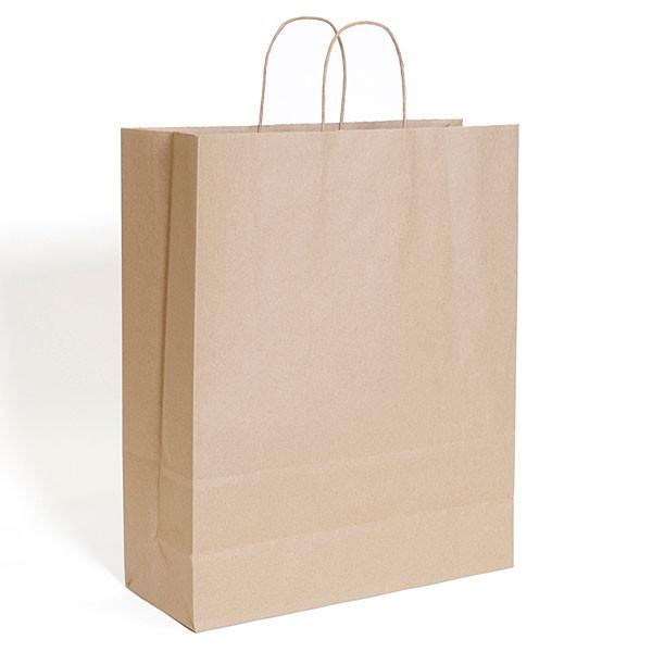 "Brown kraft shopping bag 16""x6""x19""- 200/case"