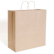 "Brown kraft shopping bag 18""x7""x19""- 200/case"