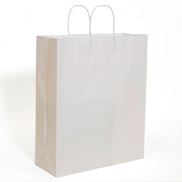 "White kraft shopping bag 16""x6""x19""- 200/case"