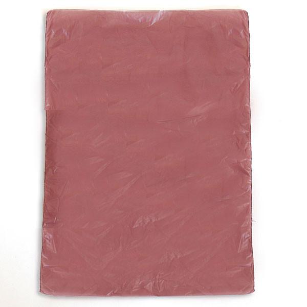 "Plastic bag high density 6.5""x9.5"" .6 mil - burgundy 1m/box"