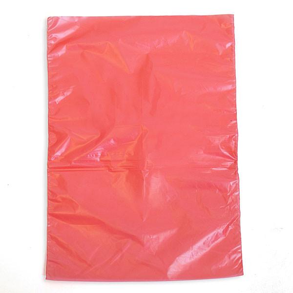 "Plastic bag high density 6.5""x9.5"" .6 mil - red 1m/box"
