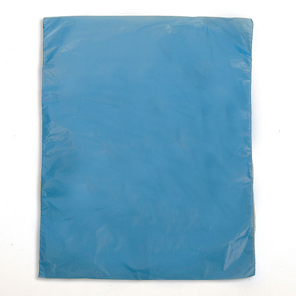 "Plastic bag high density 8.5""x11"" .65 mil - blue 1m/box"