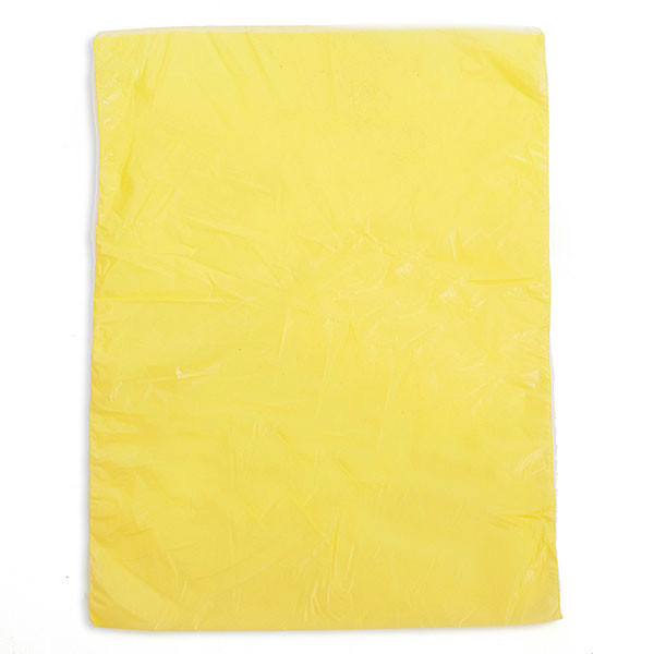 "Plastic bag high density 8.5""x11"" .65 mil - yellow 1m/box"