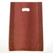 "Plastic bag with die cut handles high density 12""x3""x18"" burgundy"