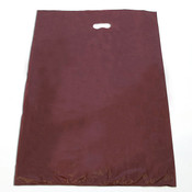 "Plastic bag with die cut handles high density 20""x4""x30"" burgundy"