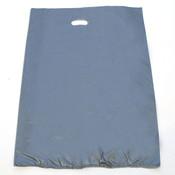 "Plastic bag with die cut handles high density 20""x4""x30"" silver"