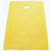 "Plastic bag with die cut handles high density 20""x4""x30"" yellow"