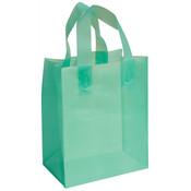 Frosted Bag - Aqua 8x5x10