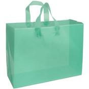 Plastic Frosted Bag Aqua 16x6x12