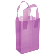 Plastic Frosted Bag Lavender 5x3x7