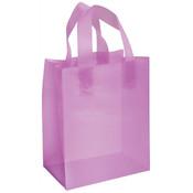 Plastic Frosted Bag Lavendar 8x5x10