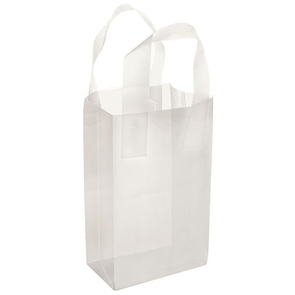Plastic Frosted Bag Clear 5x3x7