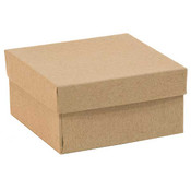 Jewelry box 3-3/4 x 3-3/4 - Kraft