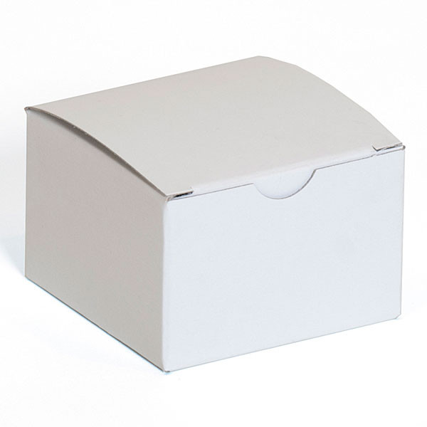 "Gift box 3""x3""x2"" - white 100/case"