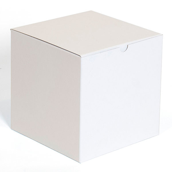 """Gift box 7""""x7""""x7"""" - white 100/case"""