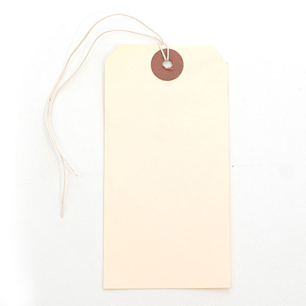 Shipping tag - manila with string
