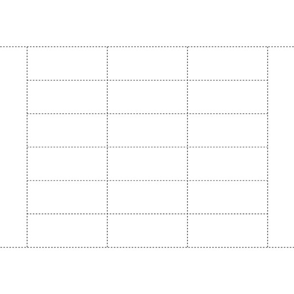 """Tag White-insert Style 1-1/4""""H X 3""""W Fits 01892"""