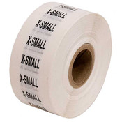 Size Labels Clear Adhesive - X-Small