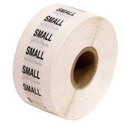 Size Labels Clear Adhesive - Small
