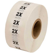 Size Labels Clear Adhesive - 2X