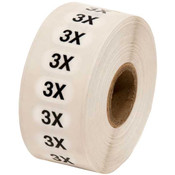 Size Labels Clear Adhesive - 3X