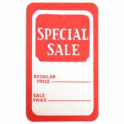 "Tag ""special sale"" regular price/sale price - red/white 1000/box"