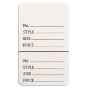 "Perforated merchandise tags without strings 1-3/4""x2-7/8"" - white"