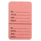 "Perforated merchandise tags without strings 1-3/4""x2-7/8"" - pink"