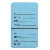 "Perforated merchandise tags no strings 1-3/4""x2-7/8"" - light blue"