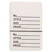 "Perforated merchandise tags without strings 1-1/2""x1-3/4"" - white"