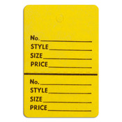 """Perforated merchandise tags without strings 1-1/2""""x1-3/4"""" - yellow"""