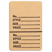 "Perforated merchandise tags without strings 1-1/2""x1-3/4"" - buff"