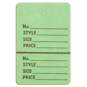 "Perforated merchandise tags no strings 1-1/2""x1-3/4"" - light green"
