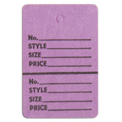 "Perforated merchandise tags without strings 1-1/2""x1-3/4"" - lavender"