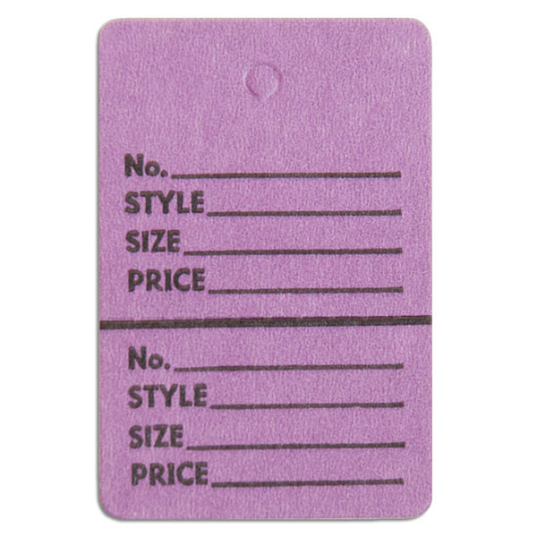 """Perforated merchandise tags without strings 1-1/2""""x1-3/4"""" - lavender"""