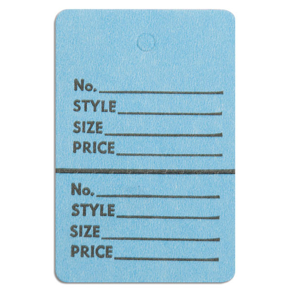 """Perforated merchandise tags no strings 1-1/2""""x1-3/4"""" - light blue"""