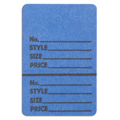 "Perforated merchandise tags without strings 1-1/2""x1-3/4"" - dark blue"